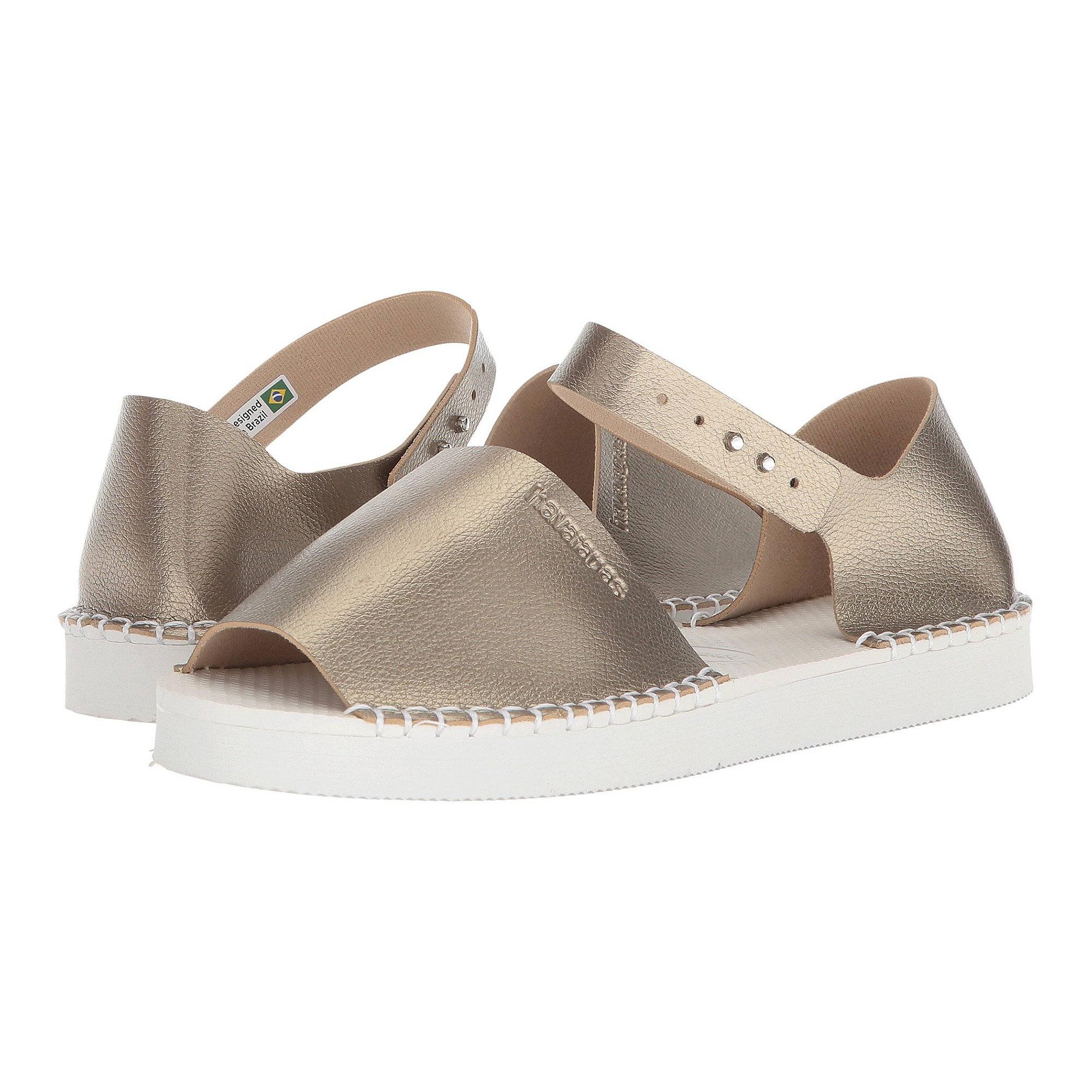 Havaianas Women's Flatform Fashion Flop Soul Shoes Golden
