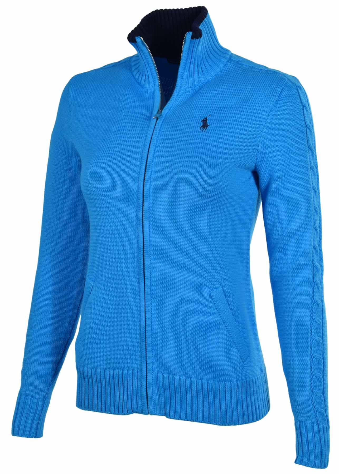 polo ralph lauren women 39 s sport full zip pony mock sweater. Black Bedroom Furniture Sets. Home Design Ideas