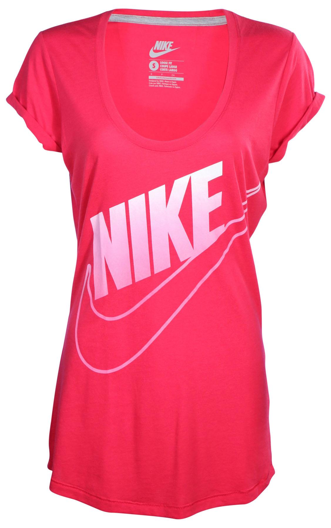 Nike Women's Oversized Nike Swoosh Loose Fit T Shirt | eBay