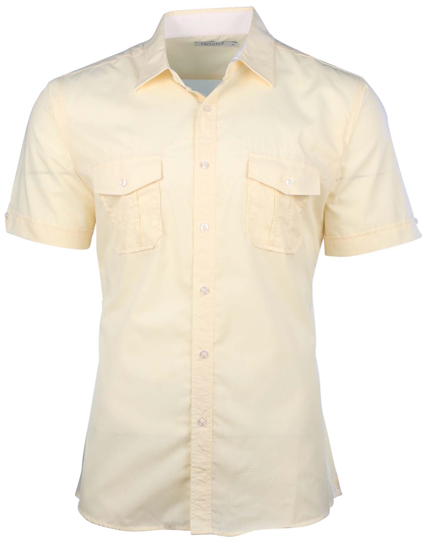 Mojito Collection Men's 2-Pocket Short Sleeve Button Down ...