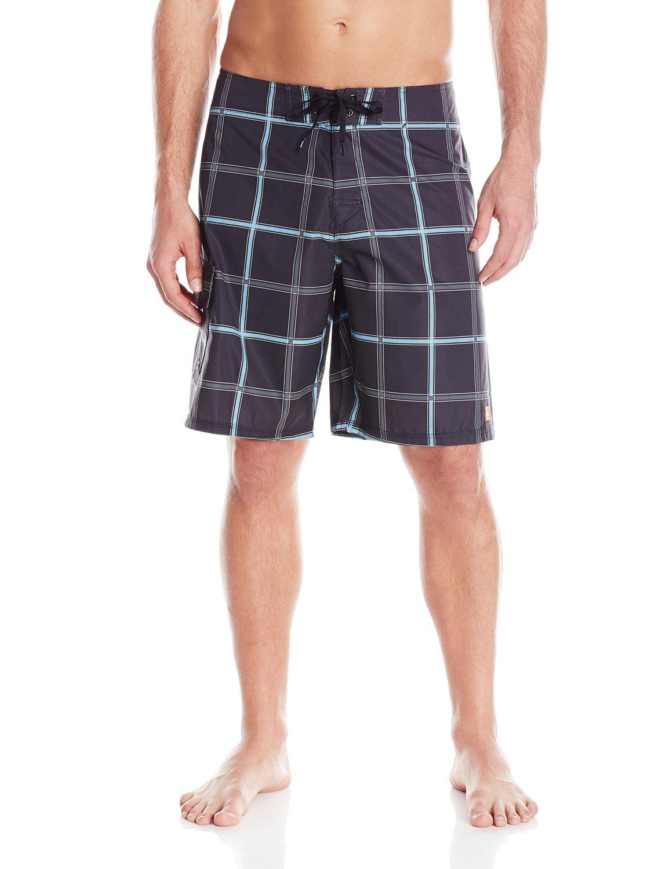 Quicksilver Tag 30w Mens Black Blue String Velcrow Board Shorts Quiksilver Boardshort Original Picture 2 Of 3