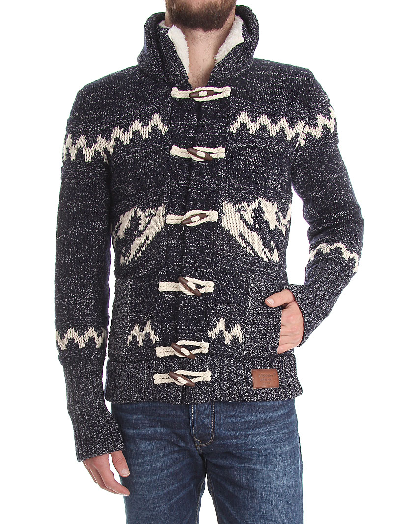 Superdry Men's Big Zip Mountain Knit Hooded Sweater Jacket | eBay