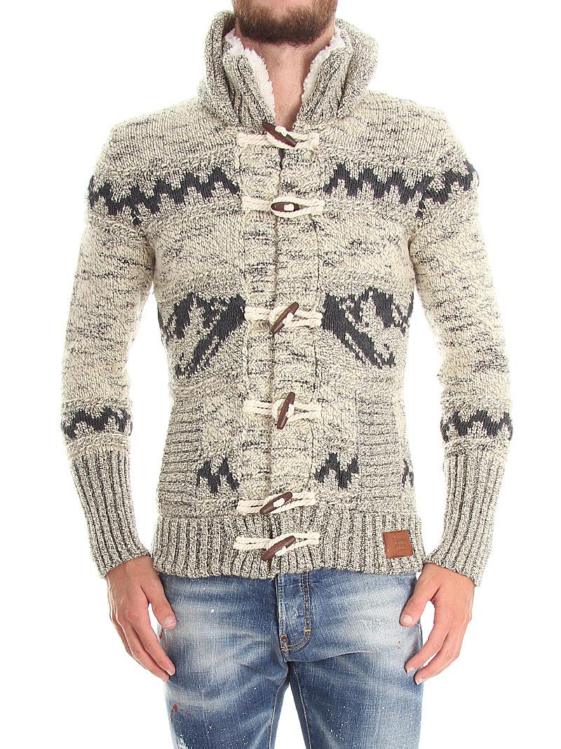 Superdry Men's Big Zip Mountain Knit Hooded Sweater Jacket XL ...