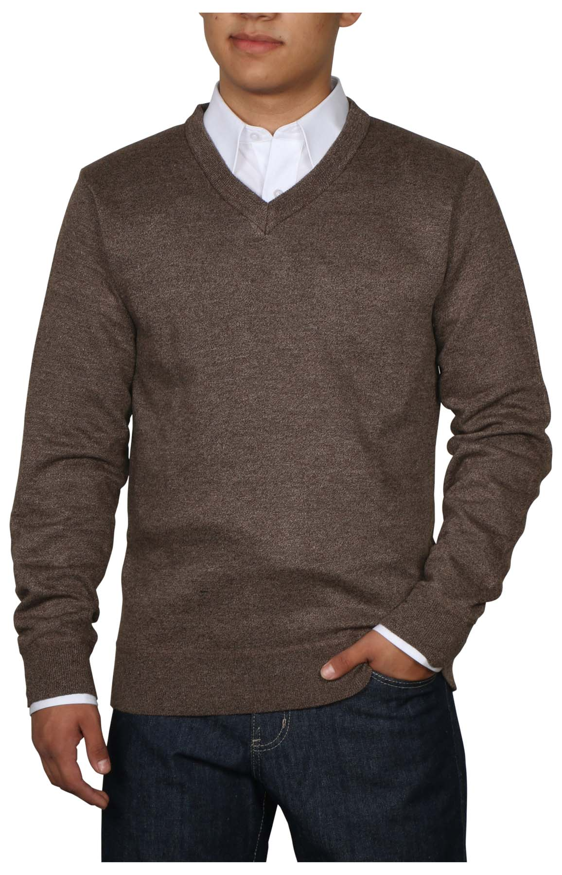 True Rock Men's Lightweight Long Sleeve V-Neck Sweater | eBay