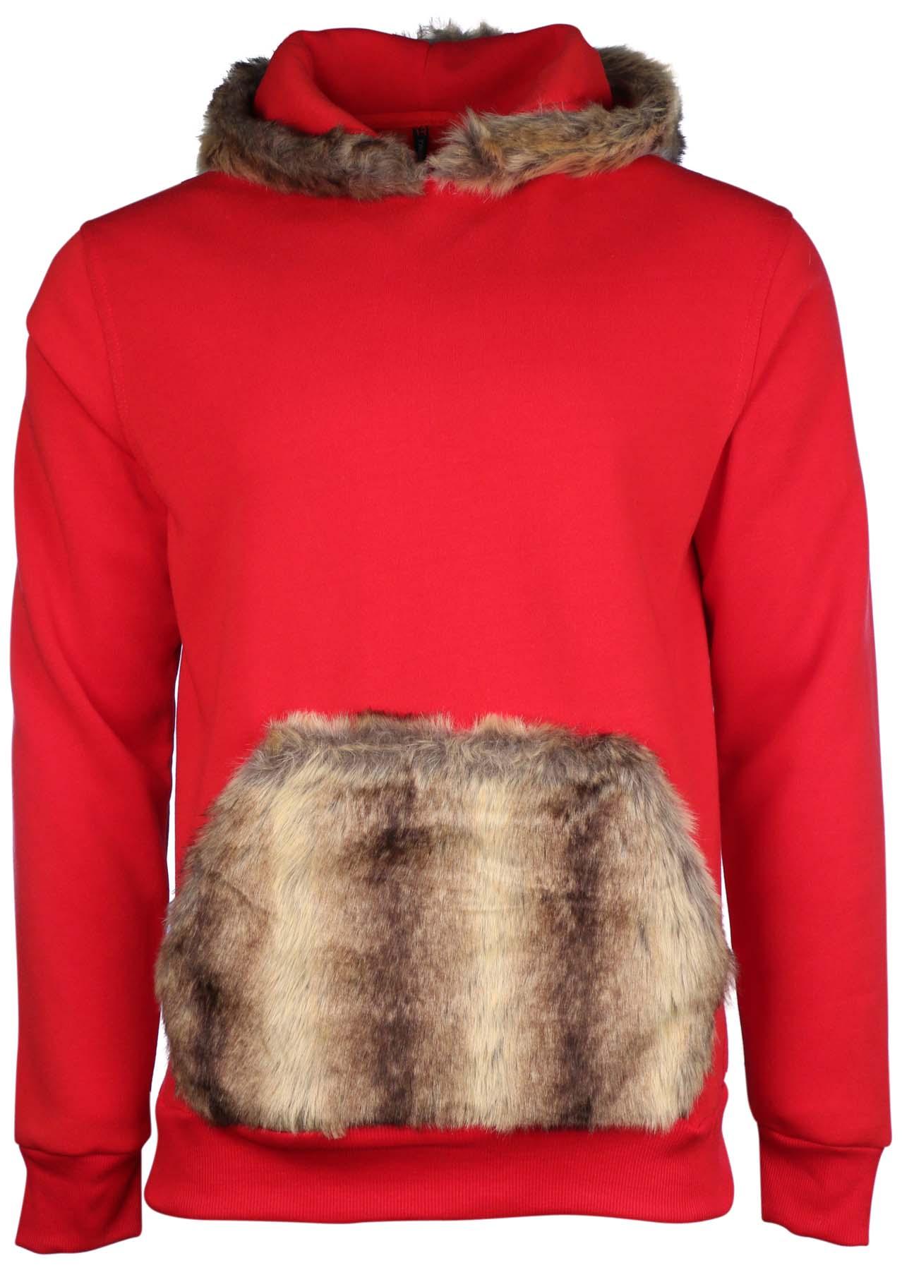 Fur hoodie men