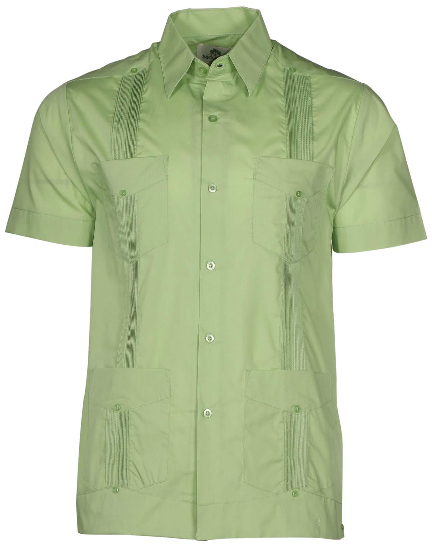 Mojito Collection Men S Short Sleeve Guayabera Shirt Ebay
