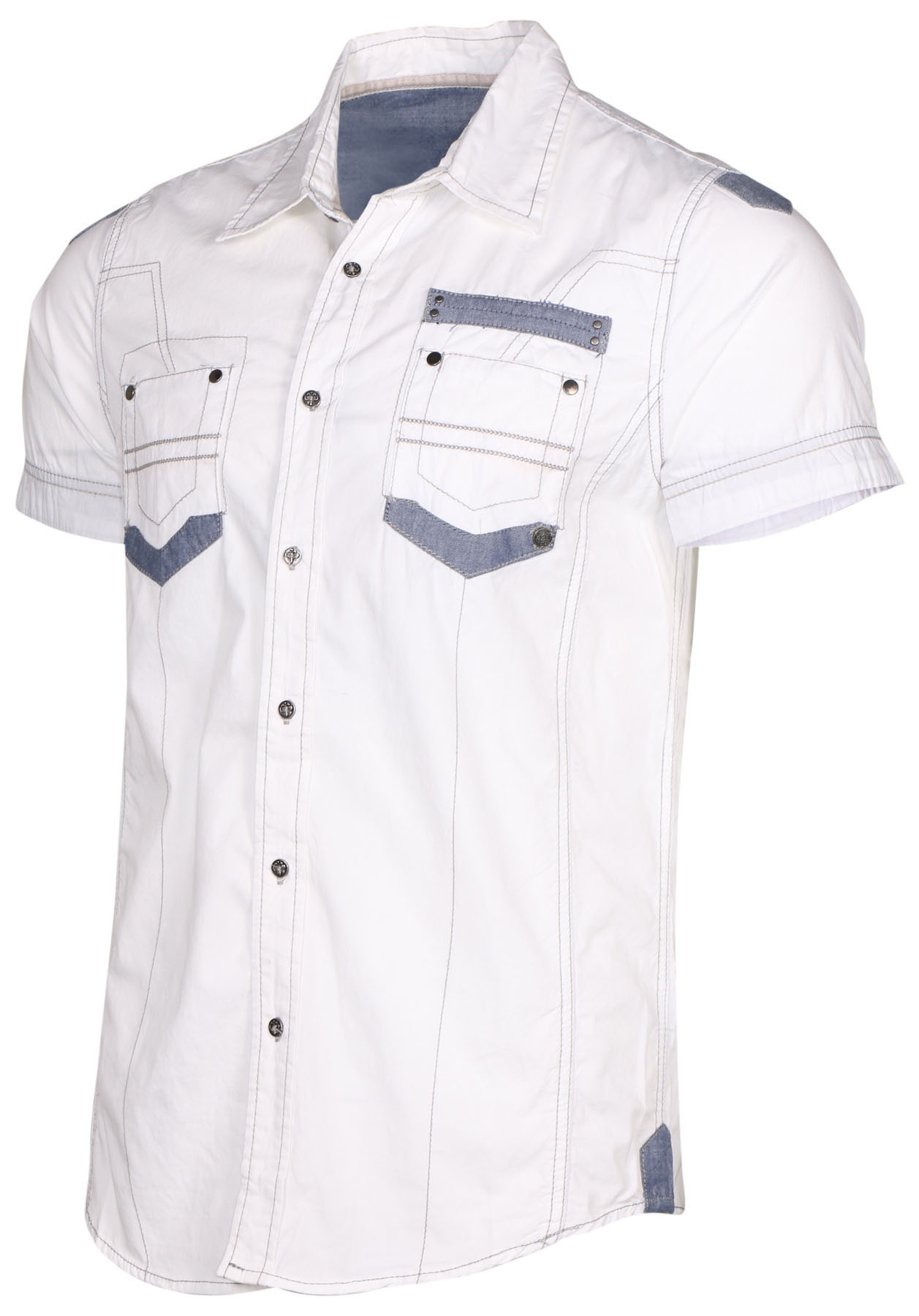 Circle one men 39 s short sleeve casual button down shirt ebay for Mens short sleeve button down casual shirts