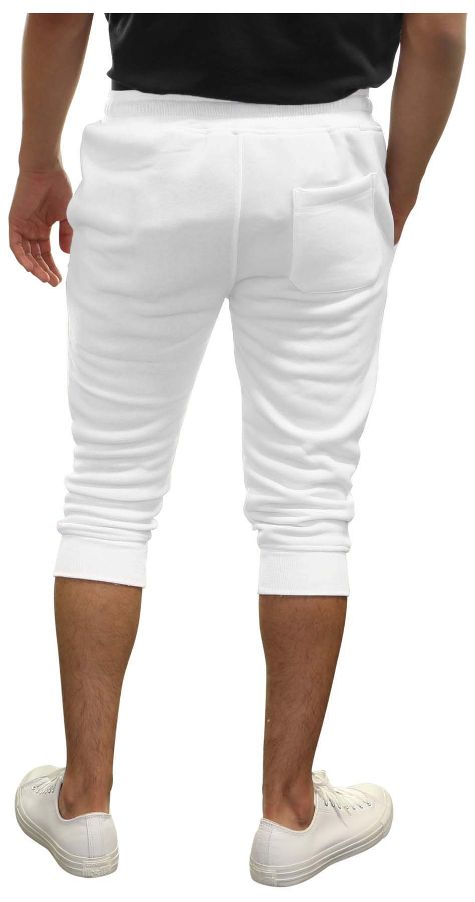 c5793708081d True Rock Men s Textured Panel Capri Pants Joggers 2xl White for ...