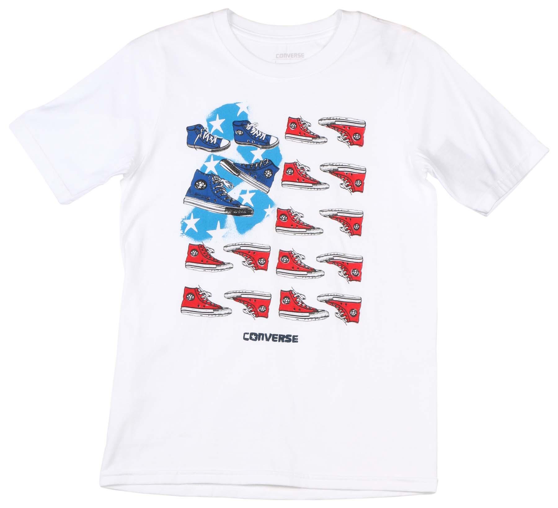 15dc06763d0a Converse Big Boys  (8-20) Chucks   Stripes T-Shirt-White