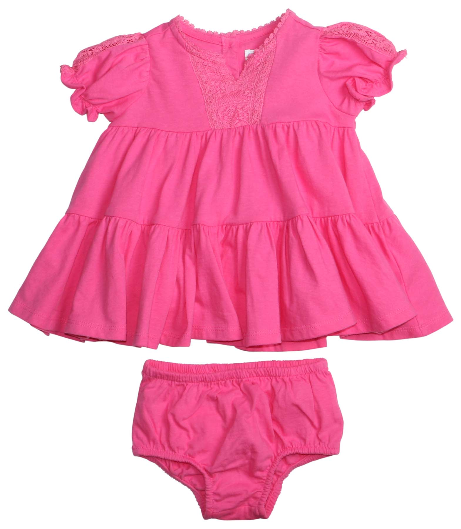 7a840ba69 Polo Ralph Lauren Infant Girls  (0M-24M) 2 Piece Dress Set-Pink-24M ...