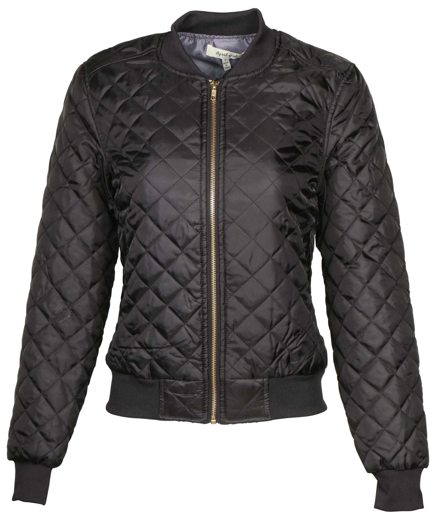 Ag Womens Quilted Bomber Jacket By 9 Crowns Essentials Ebay