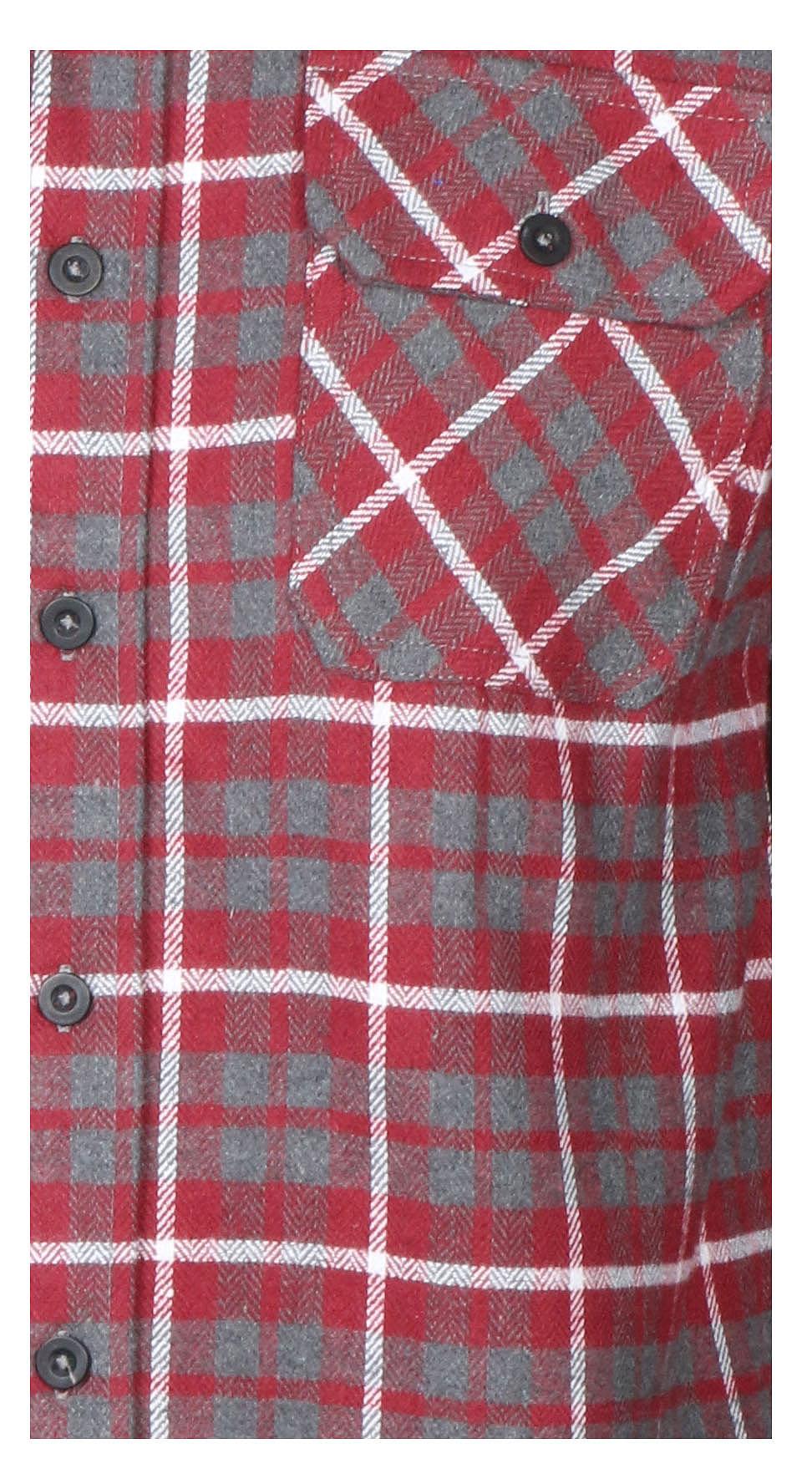 9-Crowns-Men-039-s-Lightweight-Hoodie-Plaid-Flannel-Shirt