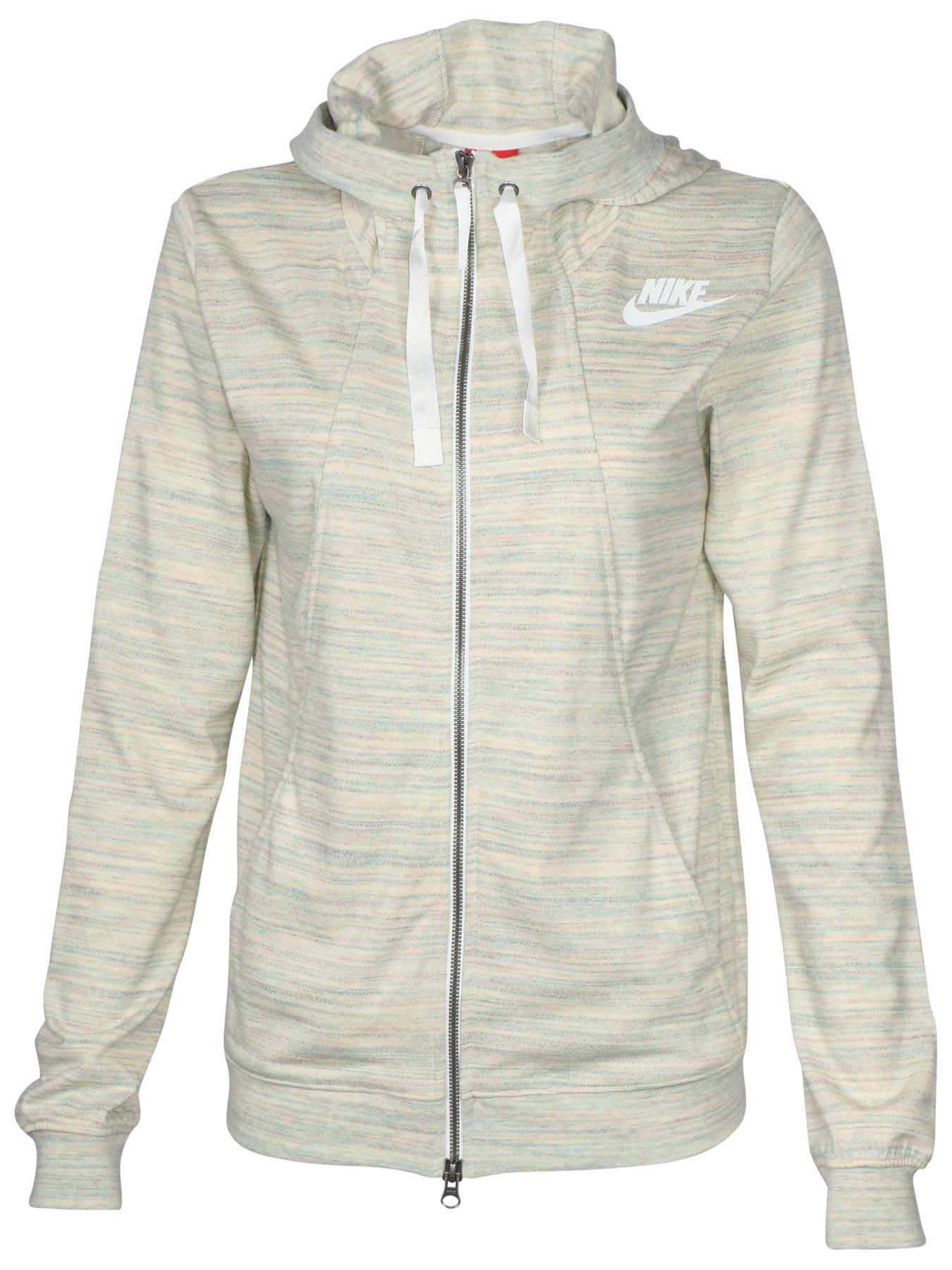 2ba5dd917735 Details about Nike Women s Gym Classic Full Zip Sport Casual Hoodie-Sail  Heather