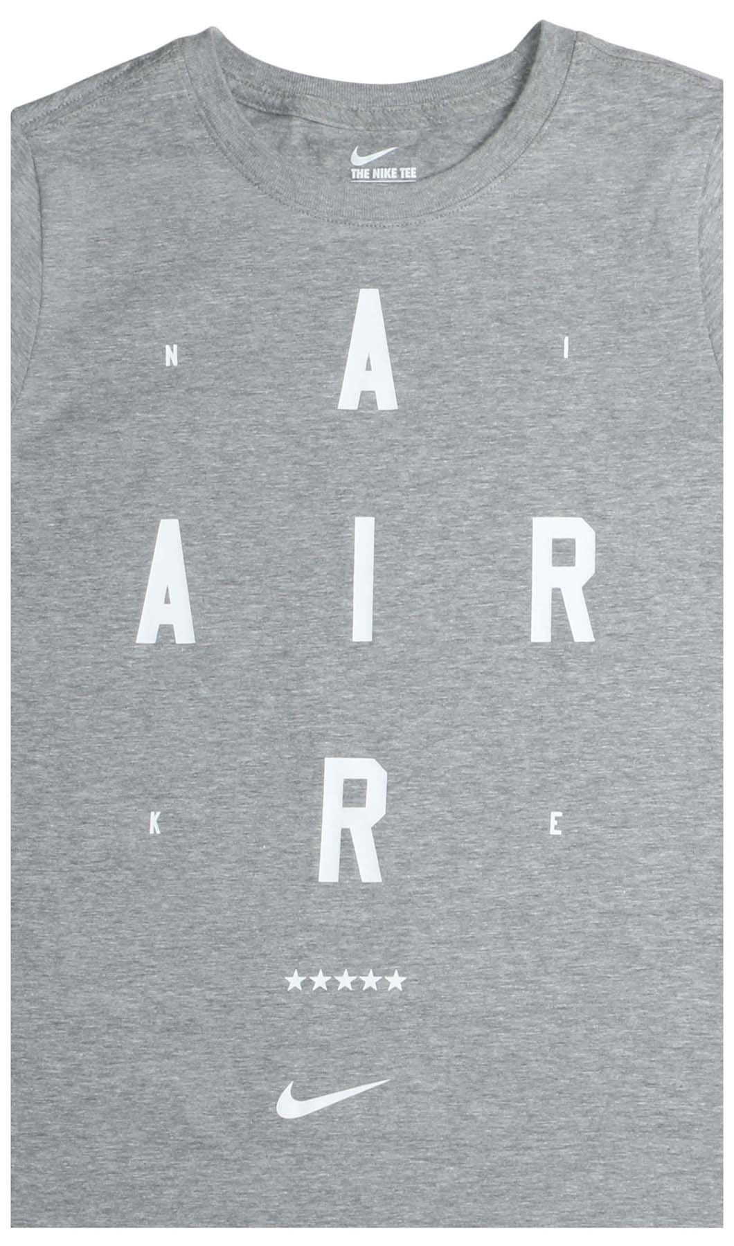 e88d1626 Nike Big Boys' (8-20) Gravity Air Graphic T-Shirt-Heather Grey-Small ...