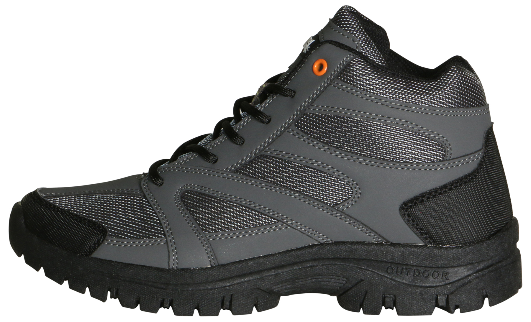True North Taos Mid Mens Boots Gray and Black huAMVEo59