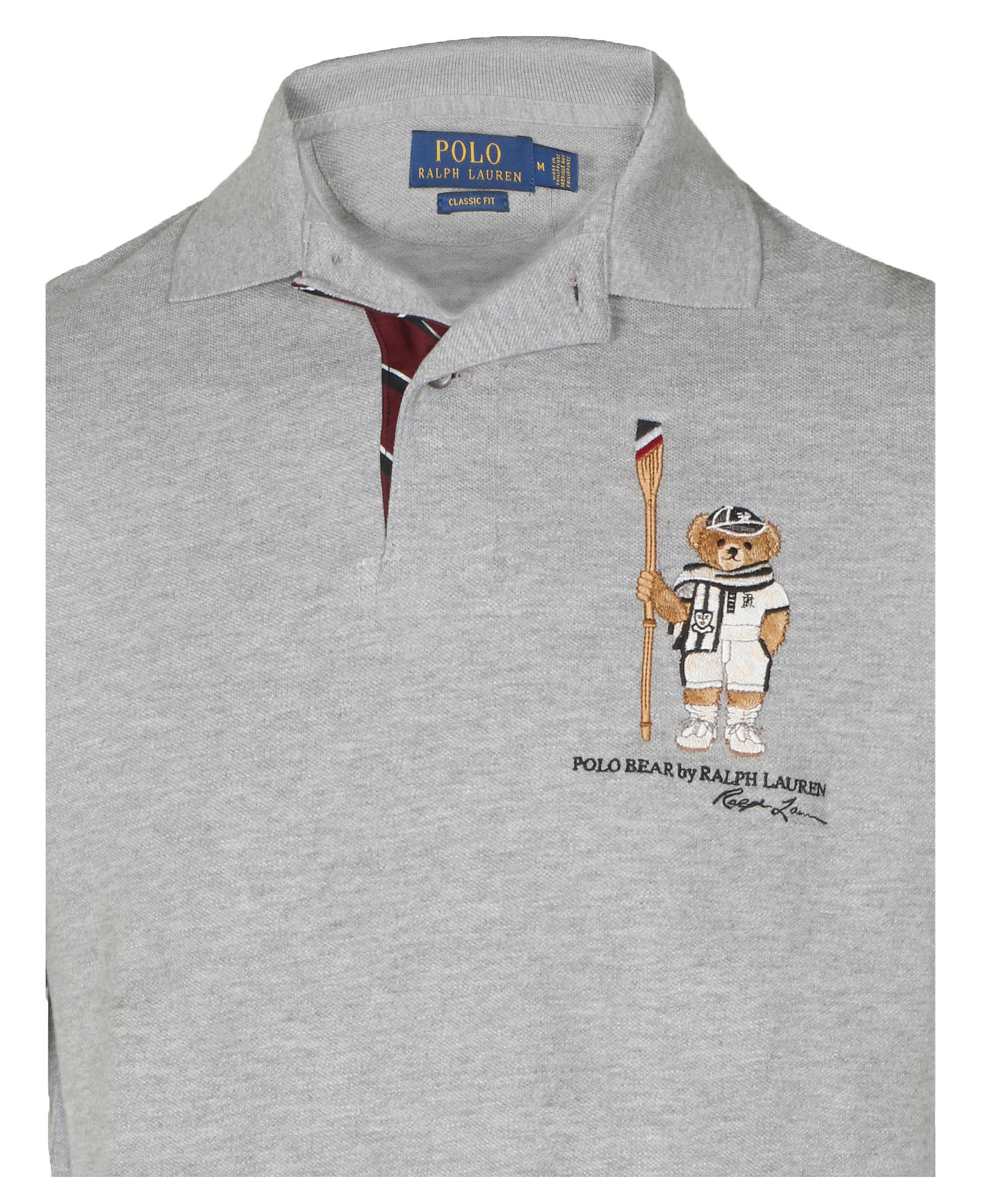 Polo Ralph Lauren Mens Limited Polo Bear Polo Shirt Htrgrey