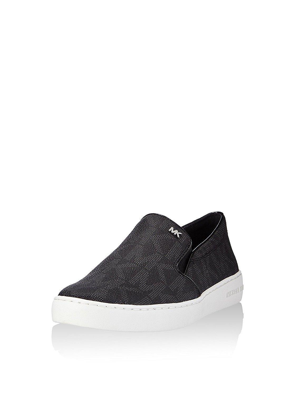 Michael Kors Women's Keaton Slip-On MK Signature Shoes-Black