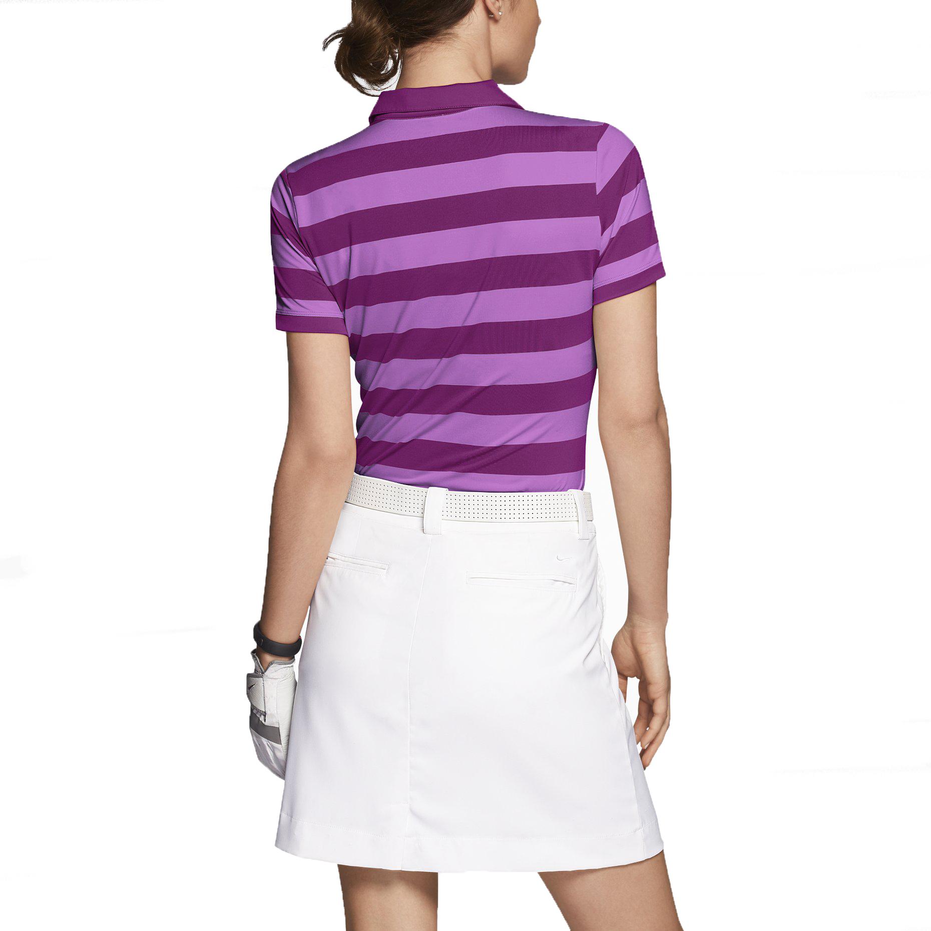 Nike Women's Dri-Fit Bold Stripe Golf Polo Shirt | eBay