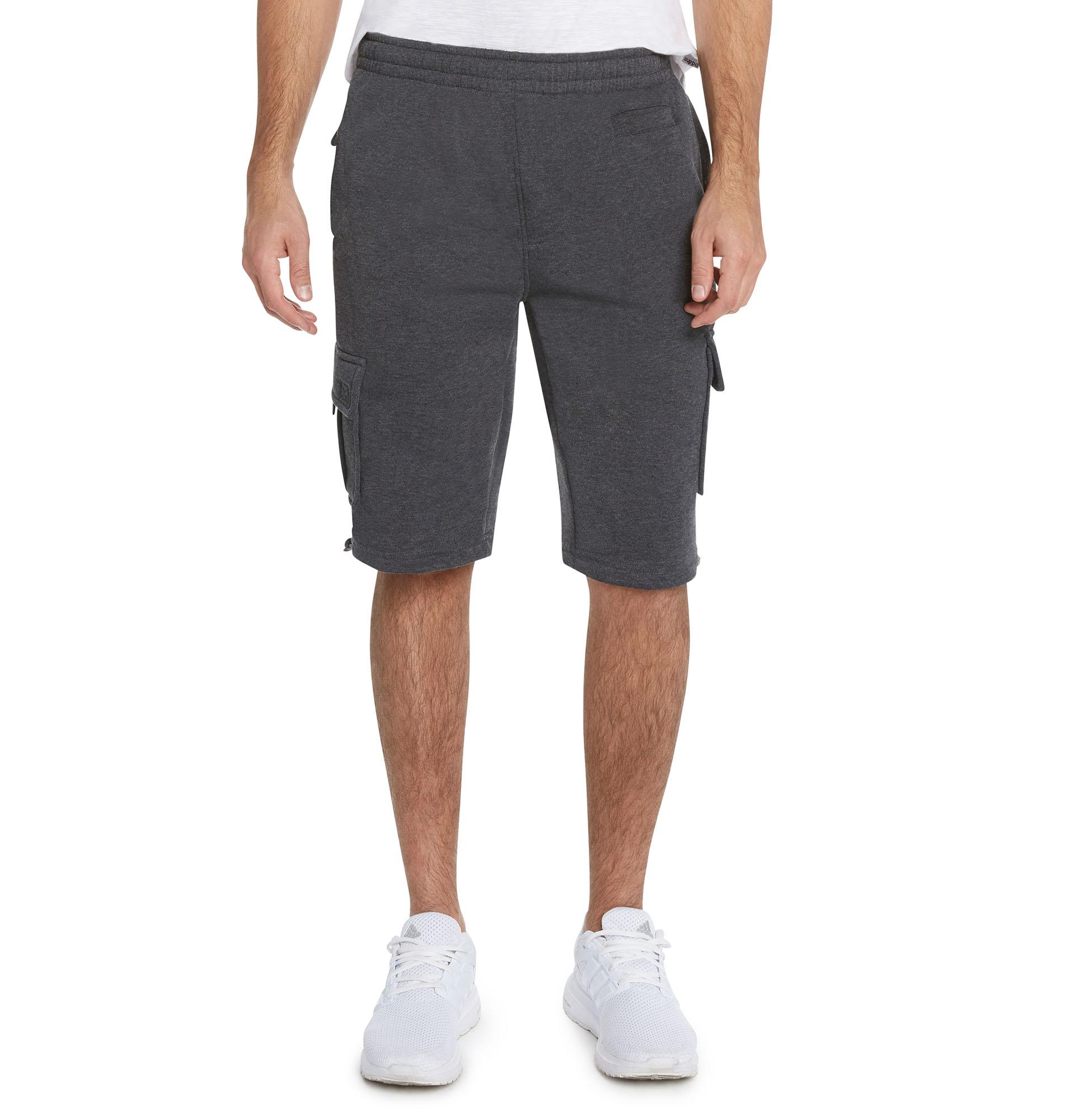 1dccef8b754e 9 Crowns Men s Casual Urban Fleece Cargo Shorts