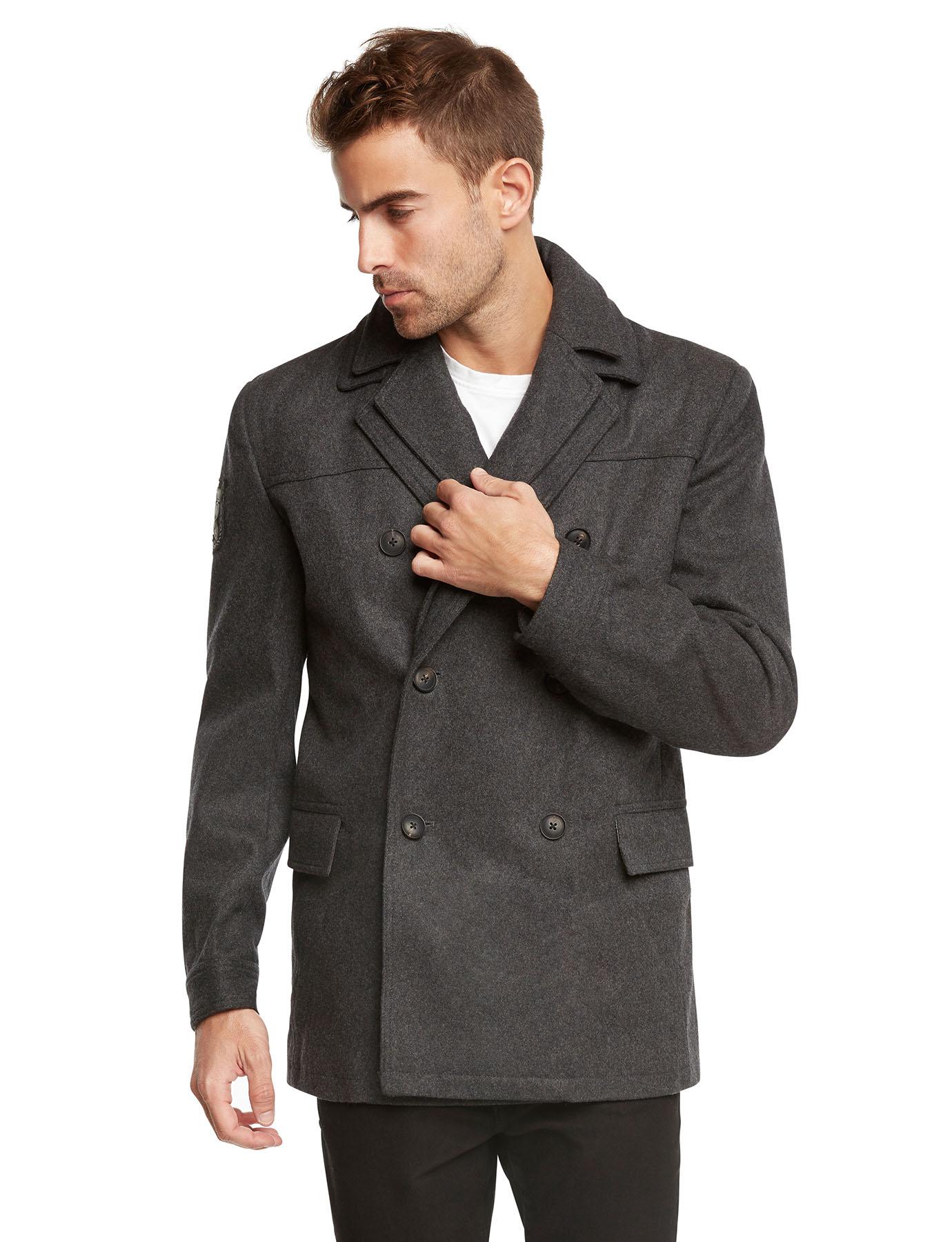 Men's Euro Slim Fit Wool Peacoat Jacket by Jack & Jones | eBay