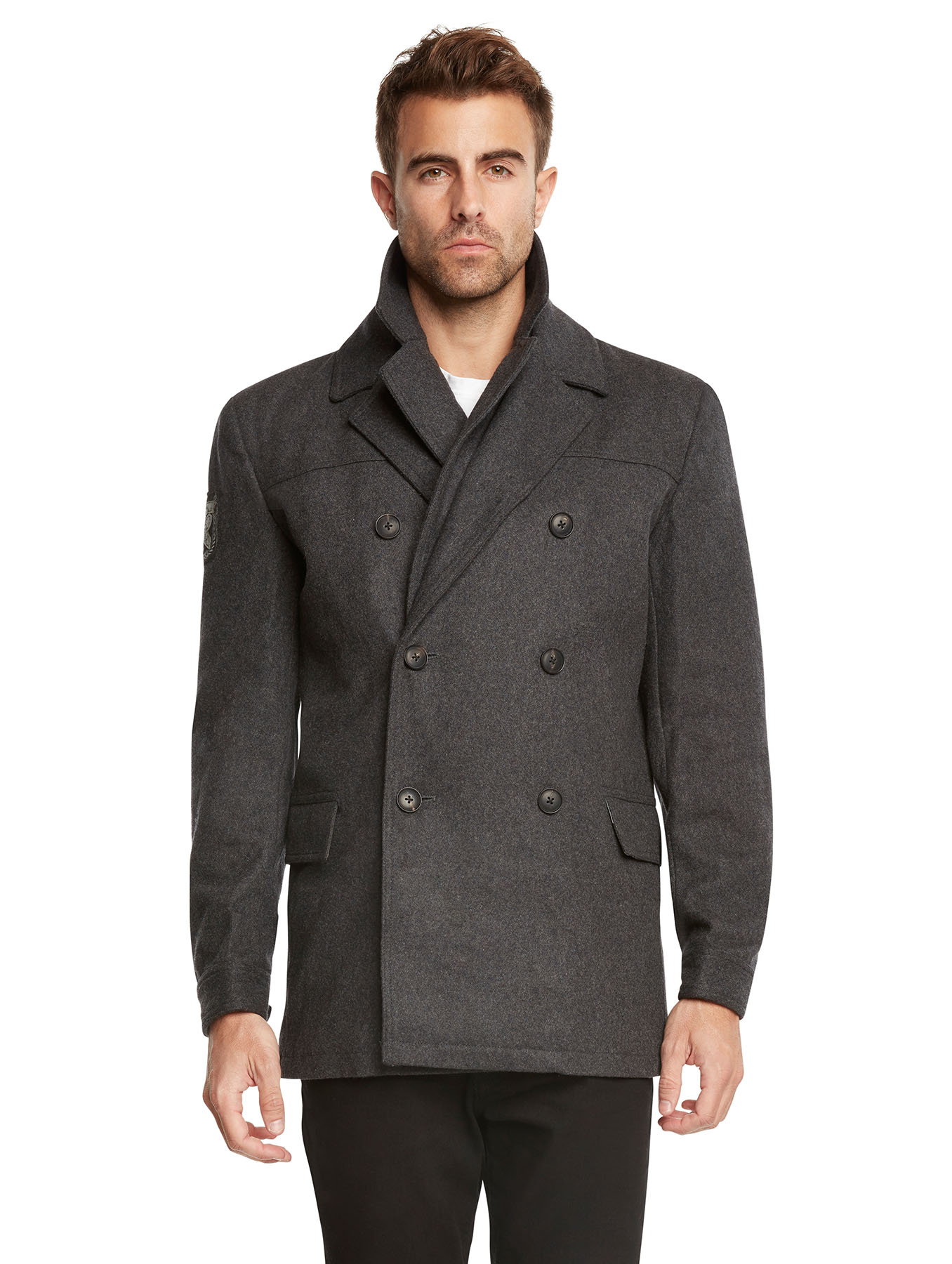 Men's Euro Slim Fit Wool Peacoat Jacket by Jack & Jones | eBay