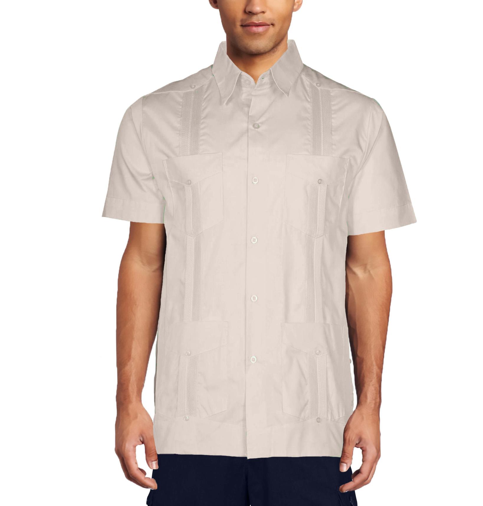 Mojito Collection Men 39 S Short Sleeve Guayabera Shirt Ebay