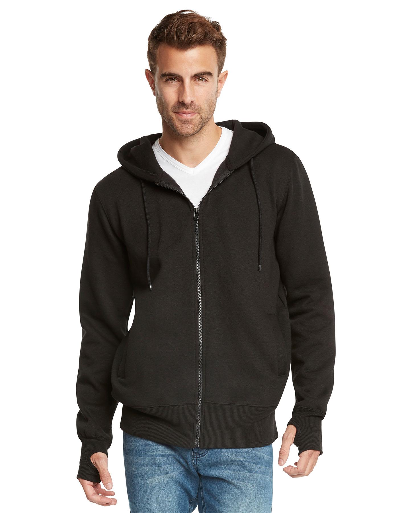 Men's Fleece Full-Zip Ninja Hoodie by 9 Crowns Essentials ...