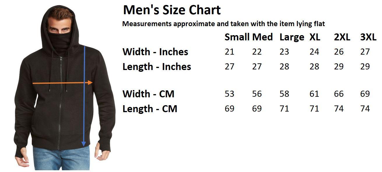 Details About Men S Fleece Full Zip Ninja Hoodie By 9 Crowns Essentials