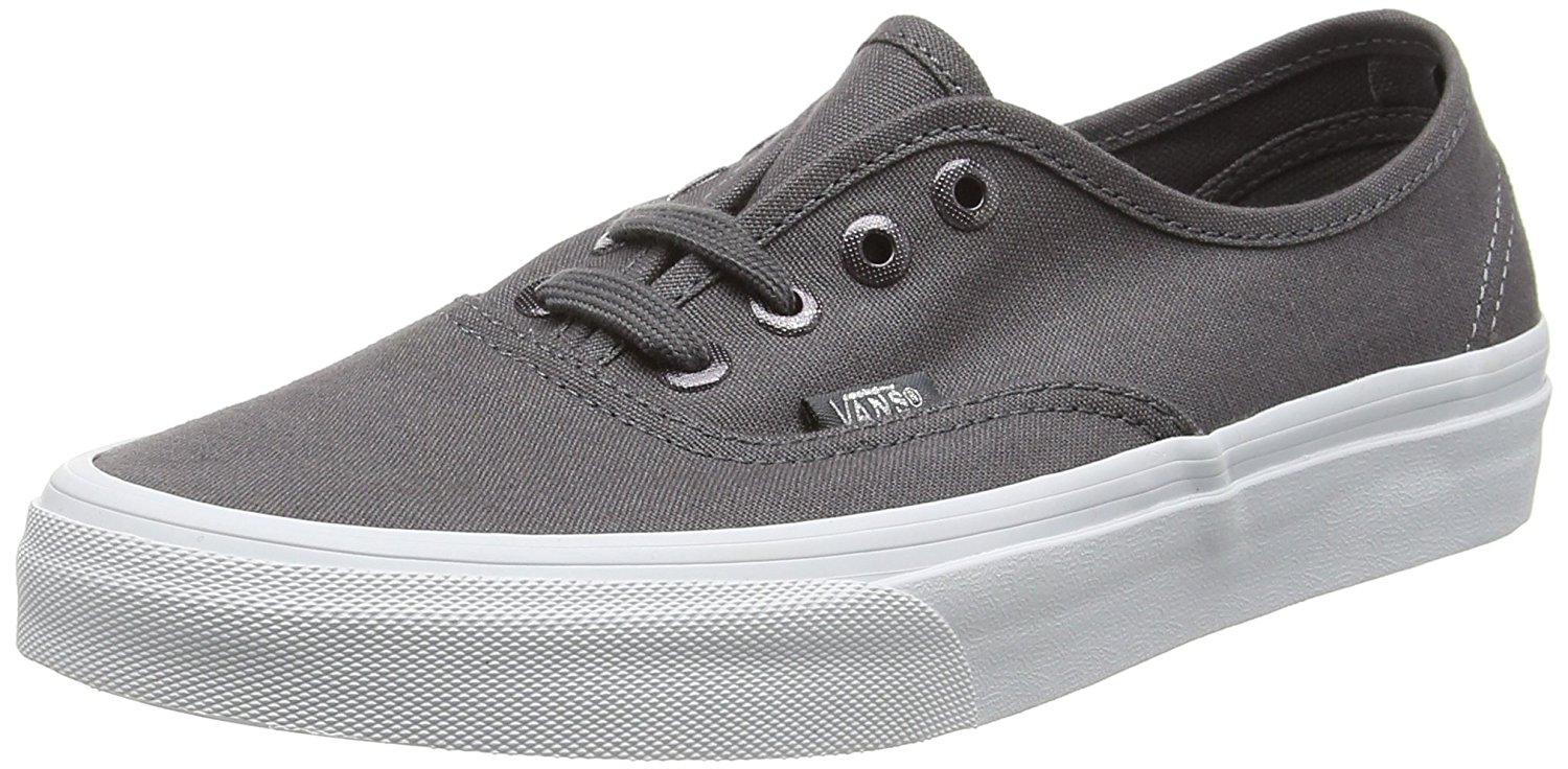 a1f67b1270e7 Vans Unisex Authentic Multi Eyelets Skate Shoes-Perf Gray
