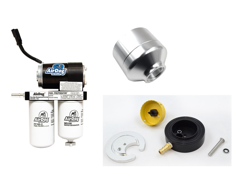 Airdog 100gph Air Fuel Separation System For 01 10 Chevy Gmc 66 2005 2500hd 6 Filter Duramax Diesel