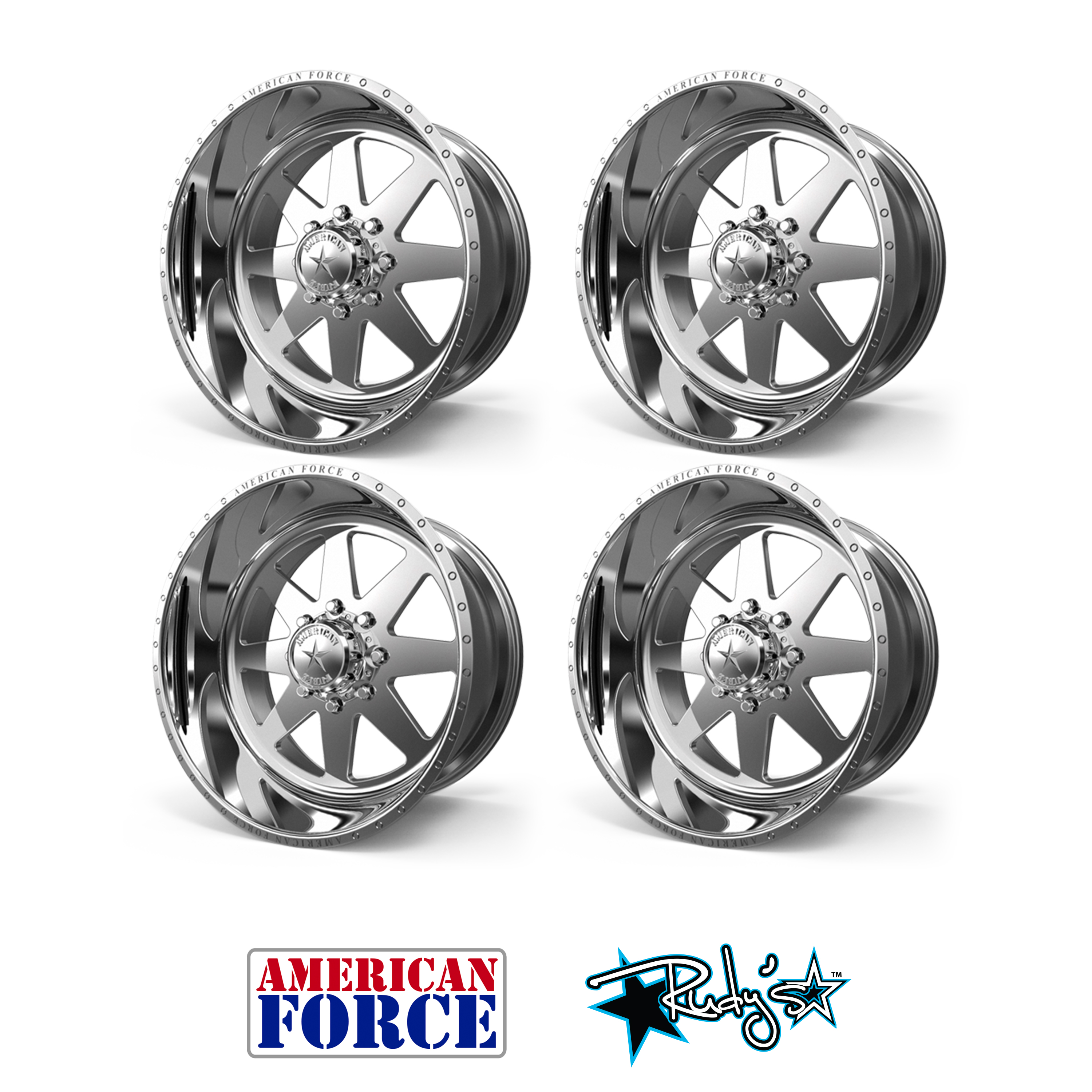 4 20x9 American Force Polished Independence Wheels For Chevy Gmc Ford Dodge Ebay