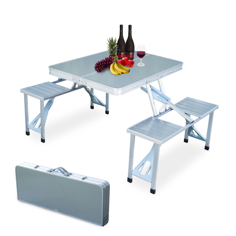 - New Outdoor Garden Aluminum Portable Folding Camping Picnic Table