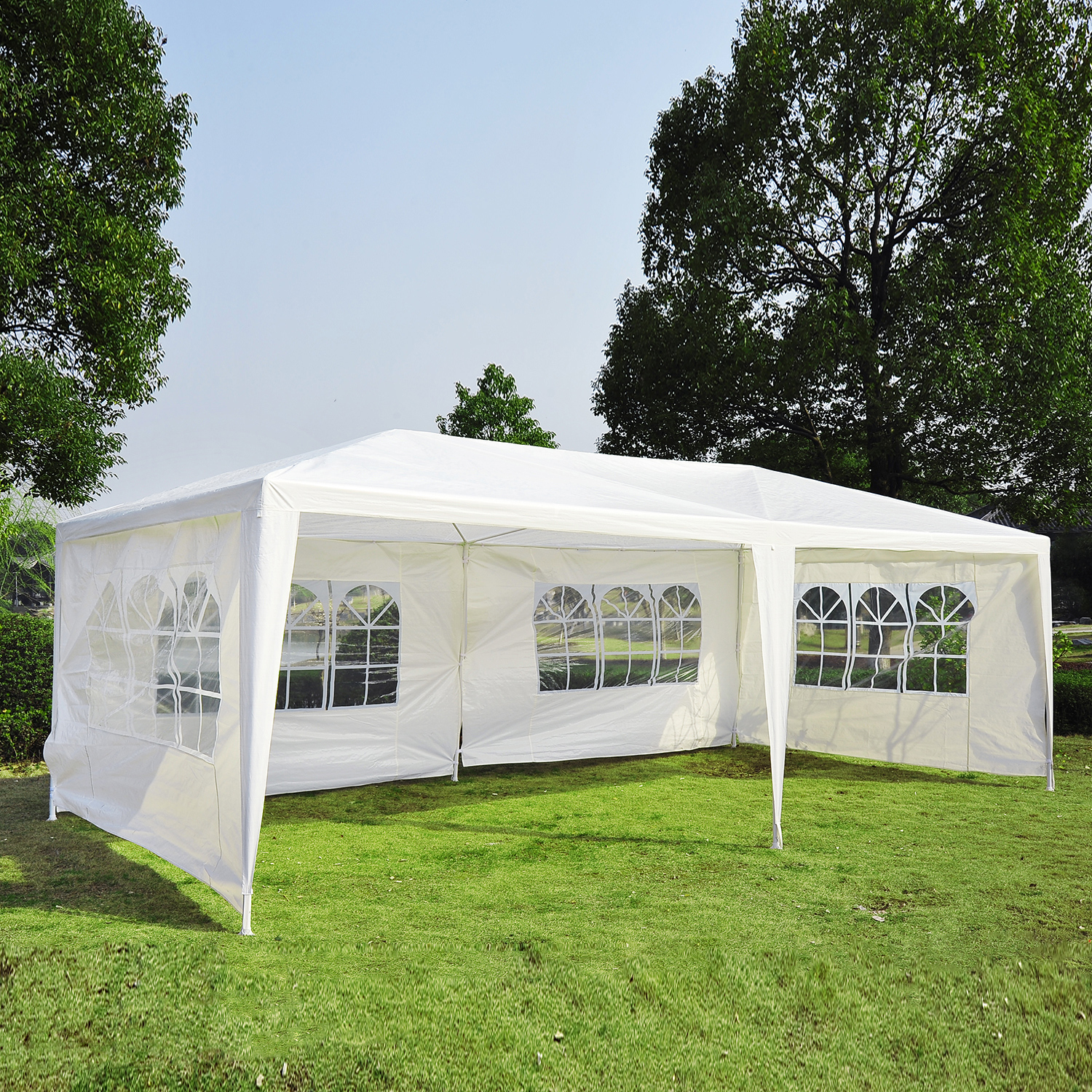 Details about Outsunny 10'x20' Outdoor Wedding Party Tent Patio Gazebo  Canopy Side Walls White