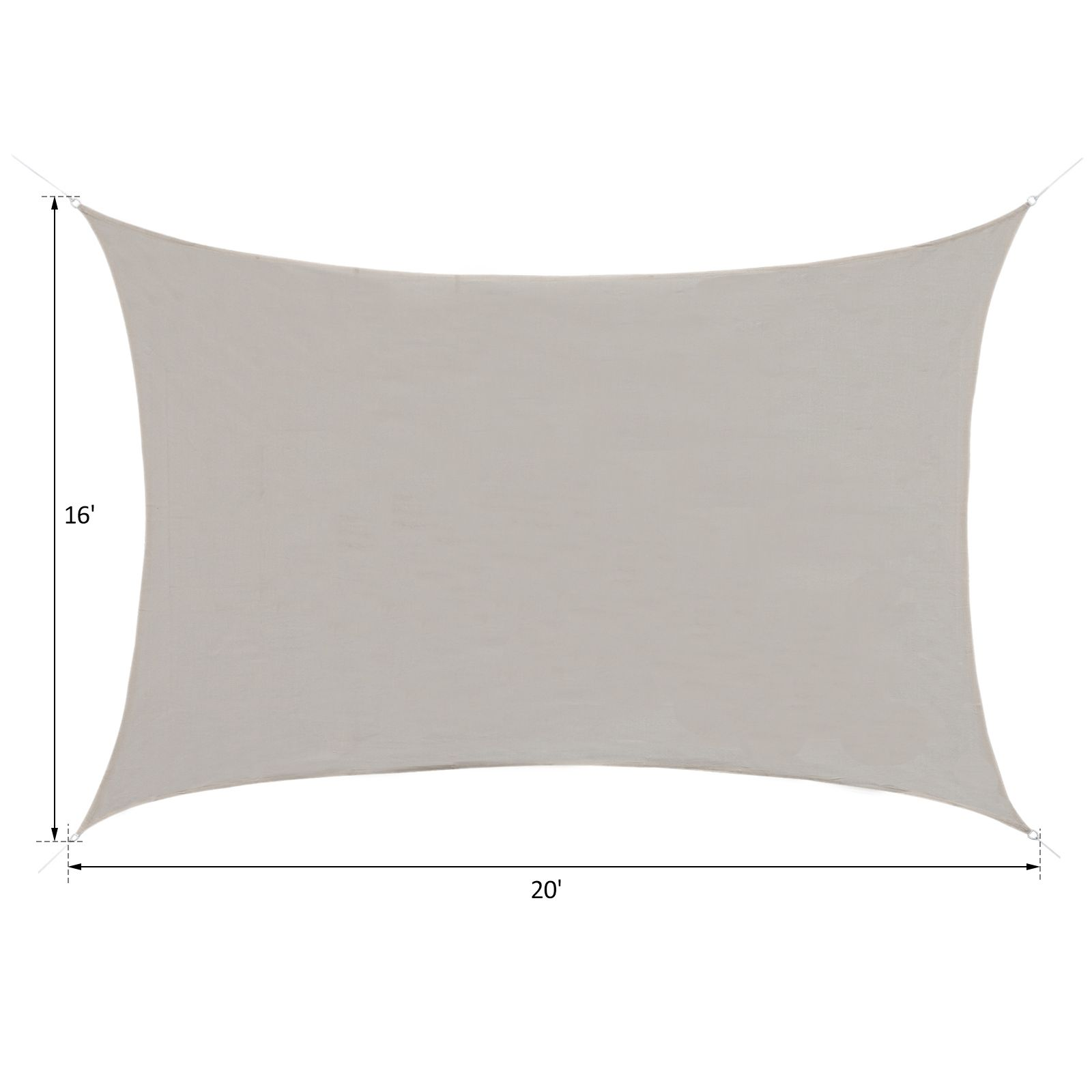 Sun-Shade-Sail-UV-Top-Cover-Outdoor-Canopy-Patio-Triangle-Square-Rectangle-w-Bag thumbnail 15