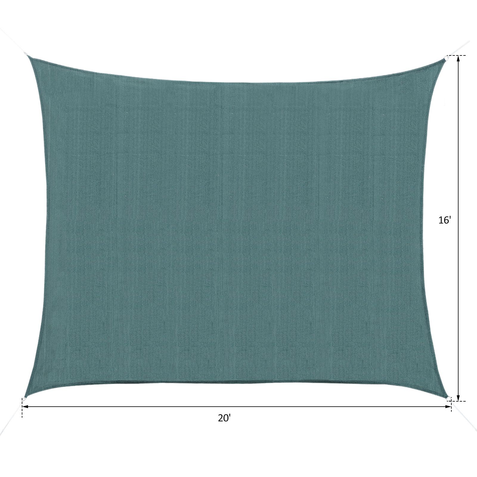 Sun-Shade-Sail-UV-Top-Cover-Outdoor-Canopy-Patio-Triangle-Square-Rectangle-w-Bag thumbnail 26