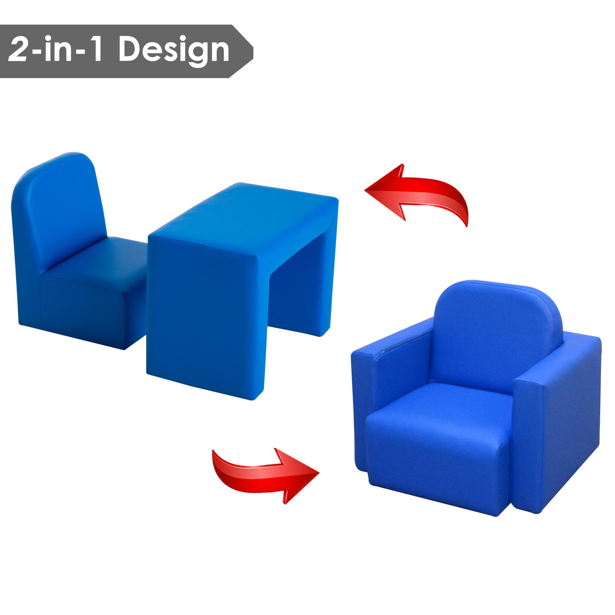 fbd54b3c149 Kids Mini Sofa 3 In 1 Table Chair Set Armchair Seat Relax Children ...
