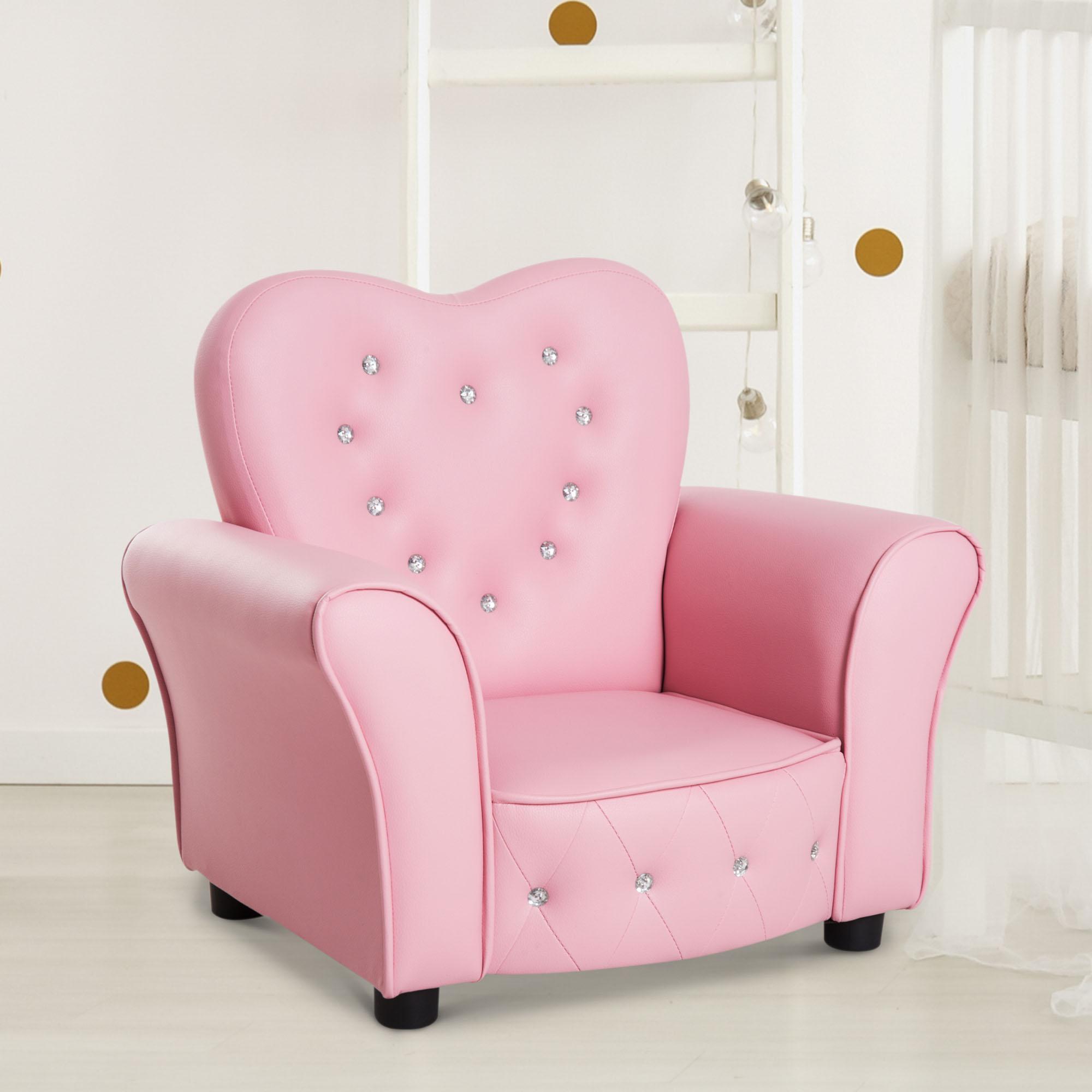 Picture of: Kid Teen Sofa Armrest Chair Couch Children Toddler Birthday Gift Girls Pink 842525125826 Ebay