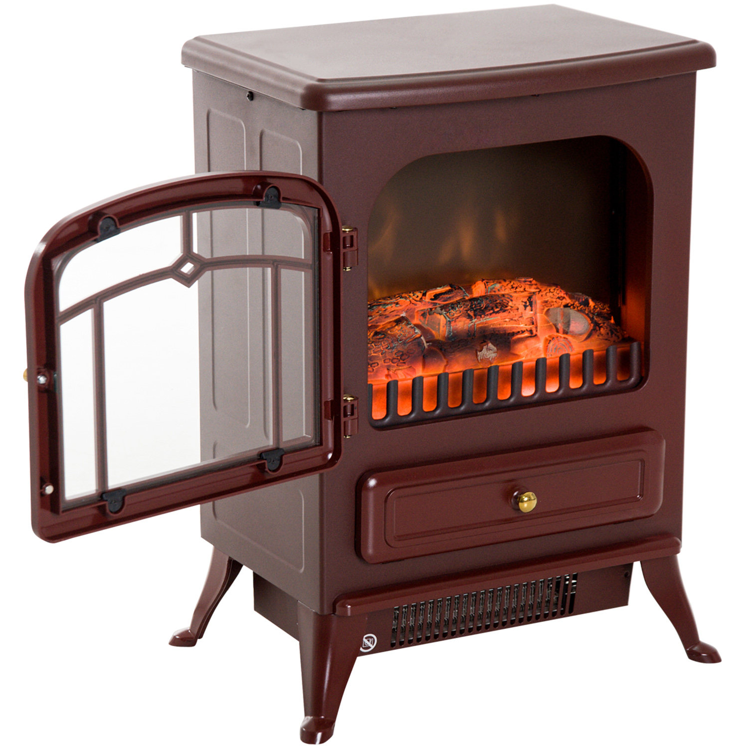 HOMCOM-750-1500W-Portable-Electric-Fireplace-Stove-Heater-Adjustable-LED-Flames thumbnail 14