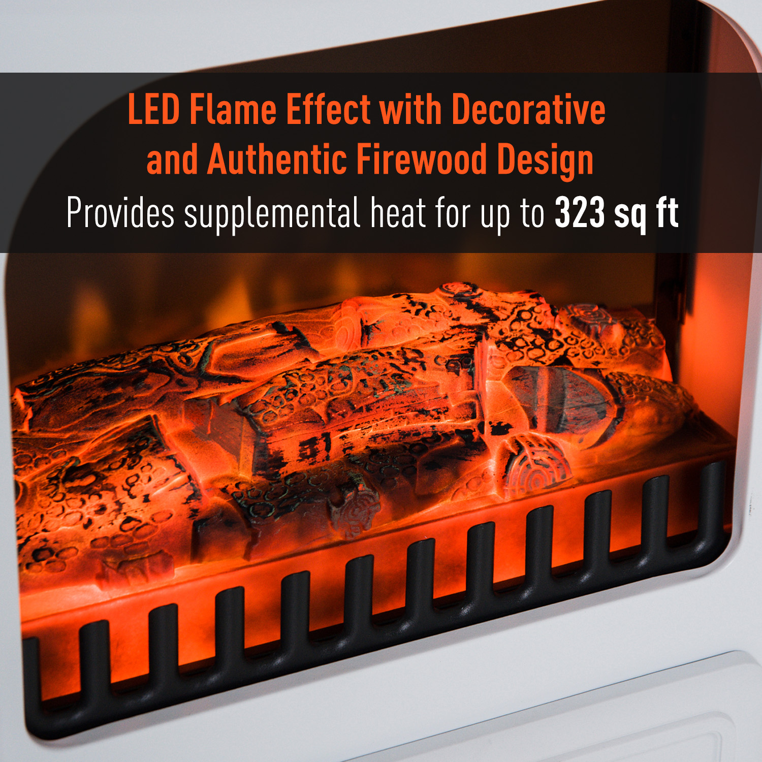 HOMCOM-750-1500W-Portable-Electric-Fireplace-Stove-Heater-Adjustable-LED-Flames thumbnail 20