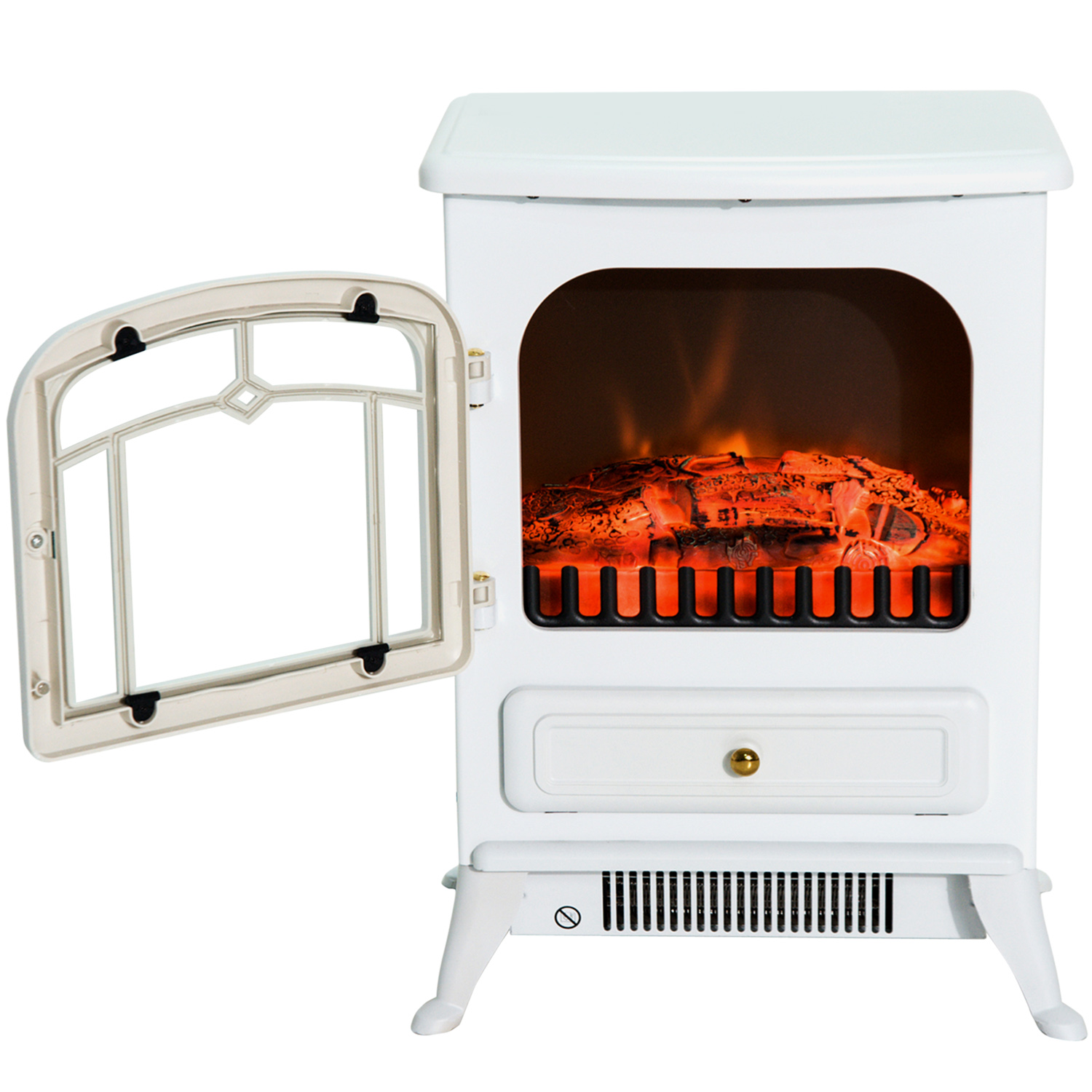 HOMCOM-750-1500W-Portable-Electric-Fireplace-Stove-Heater-Adjustable-LED-Flames thumbnail 22