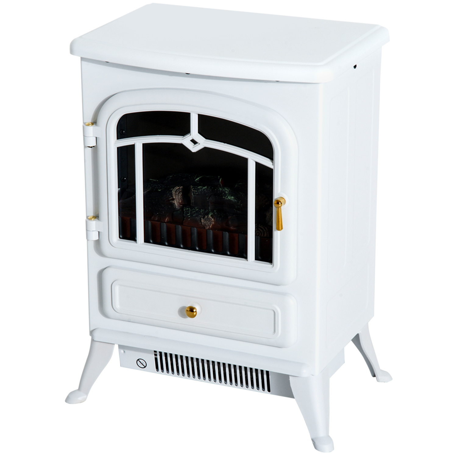 HOMCOM-750-1500W-Portable-Electric-Fireplace-Stove-Heater-Adjustable-LED-Flames thumbnail 23