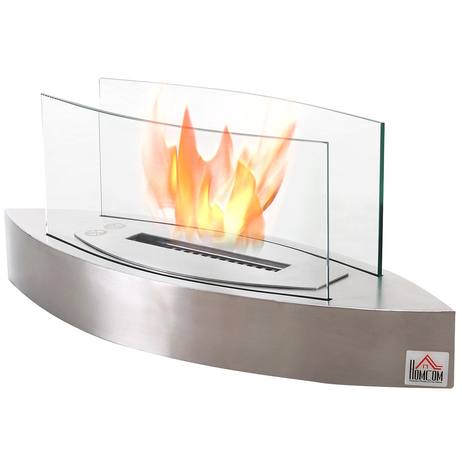 Indoor Outdoor Bio Ethanol Fireplace Fire Pit Pot Bowl Backyard