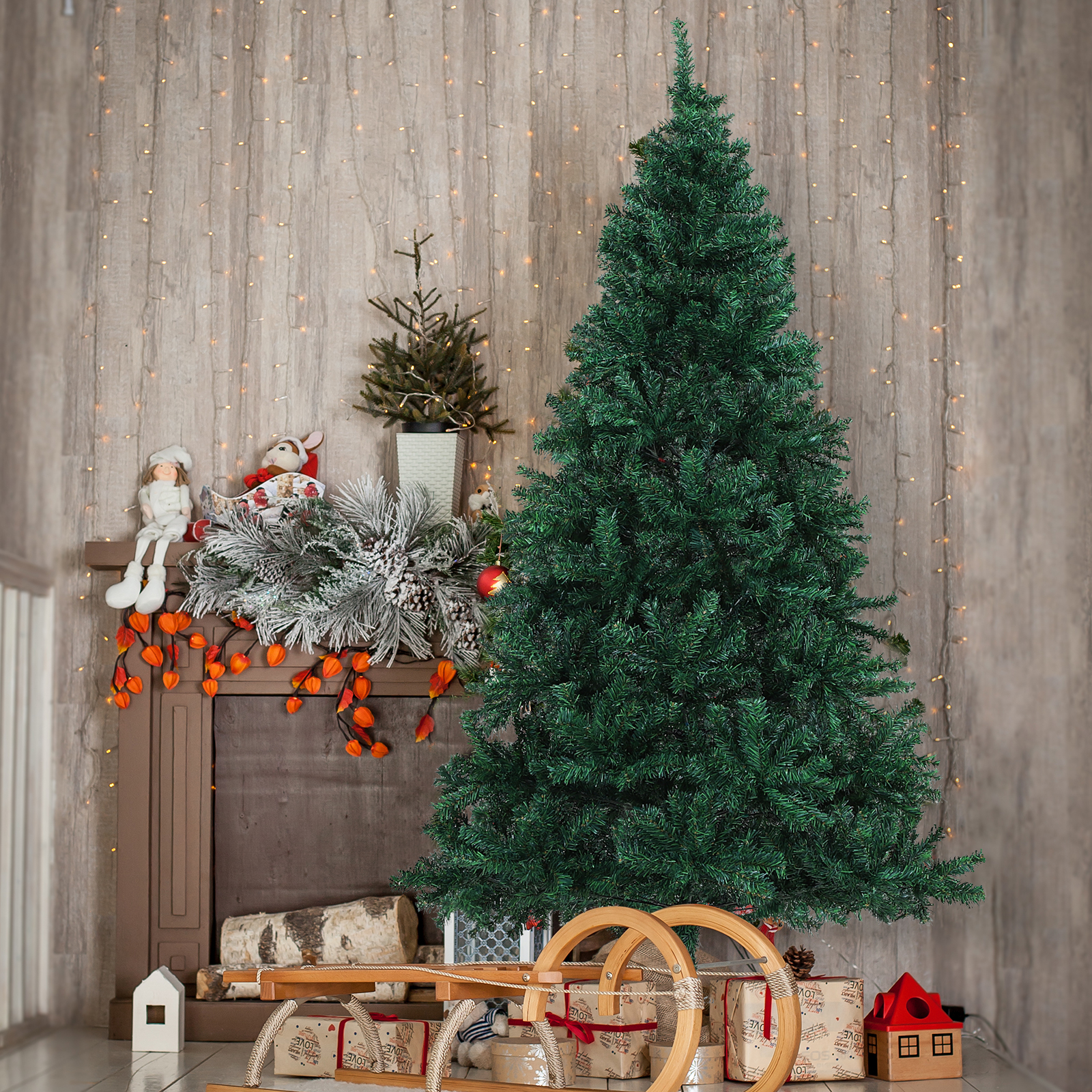 Most Realistic Artificial Christmas Tree.Details About 6 Unlit Spruce Artificial Christmas Tree With Metal Stand 1000 Tips Pvc