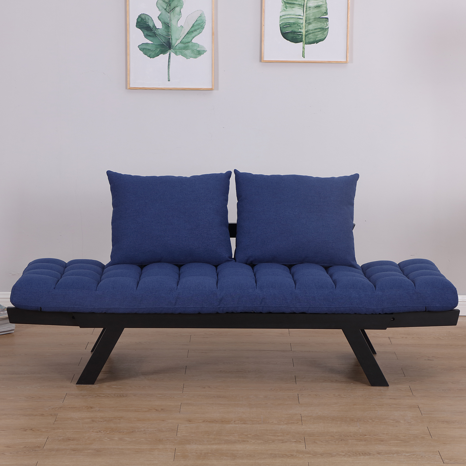 Convertible-Sofa-Bed-Sleeper-Couch-Chaise-Lounge-Chair-Adjustable-Padded-Pillow thumbnail 15