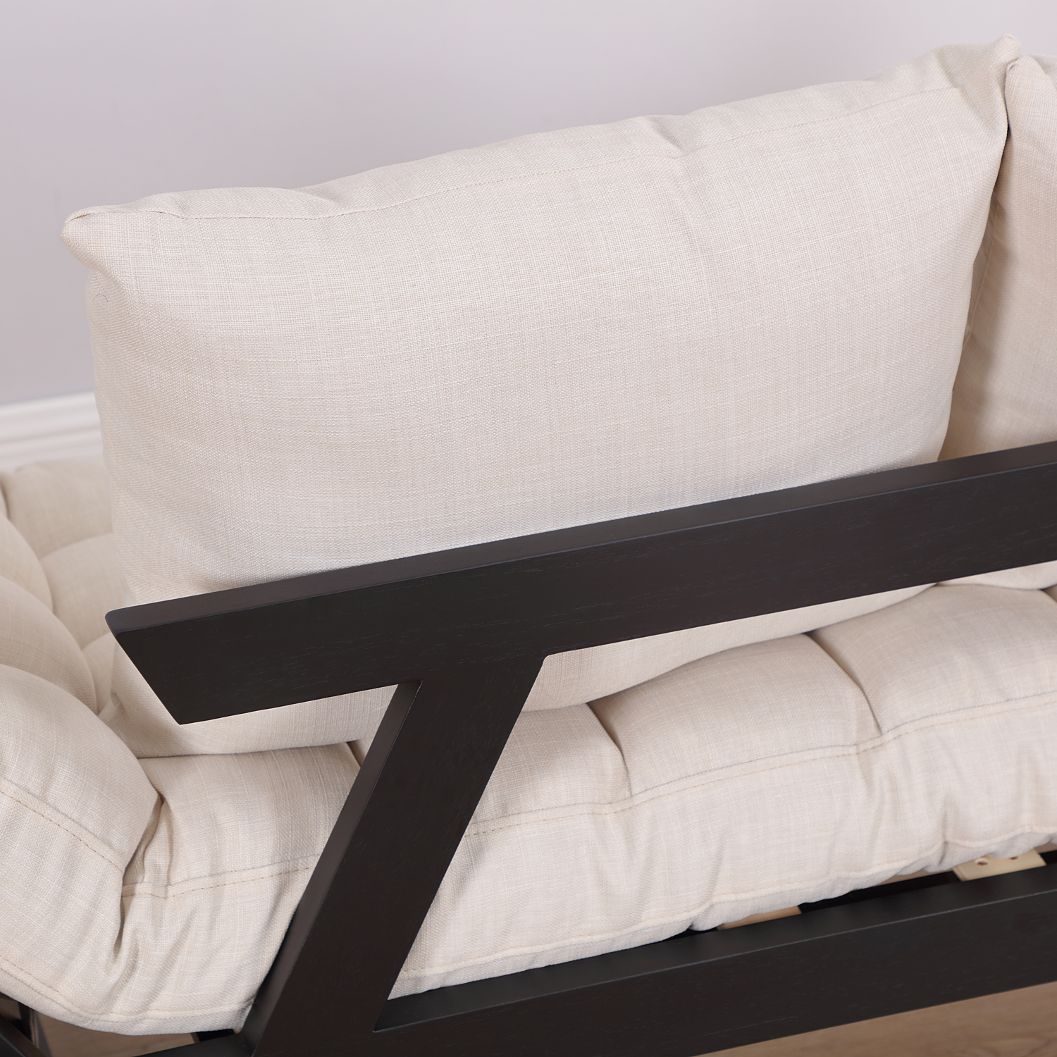 Convertible-Sofa-Bed-Sleeper-Couch-Chaise-Lounge-Chair-Adjustable-Padded-Pillow thumbnail 10