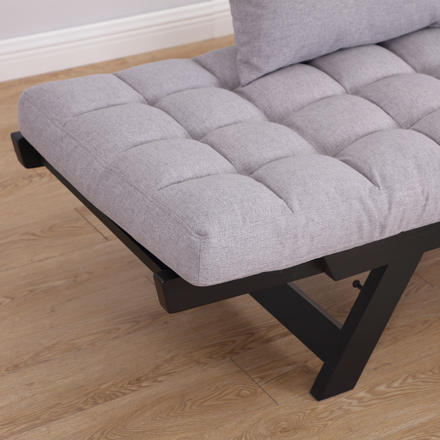Convertible-Sofa-Bed-Sleeper-Couch-Chaise-Lounge-Chair-Adjustable-Padded-Pillow thumbnail 35