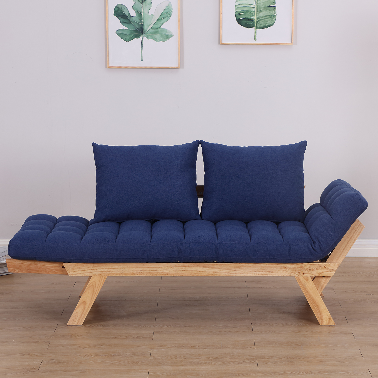 Convertible-Sofa-Bed-Sleeper-Couch-Chaise-Lounge-Chair-Adjustable-Padded-Pillow thumbnail 50