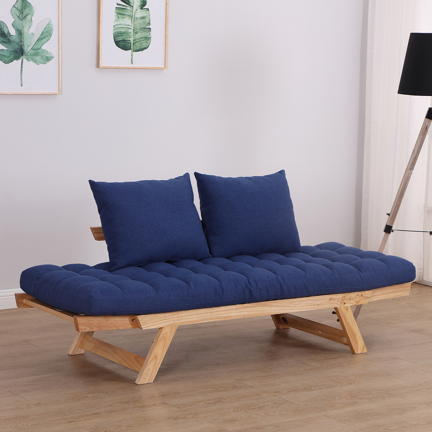 Convertible-Sofa-Bed-Sleeper-Couch-Chaise-Lounge-Chair-Adjustable-Padded-Pillow thumbnail 51