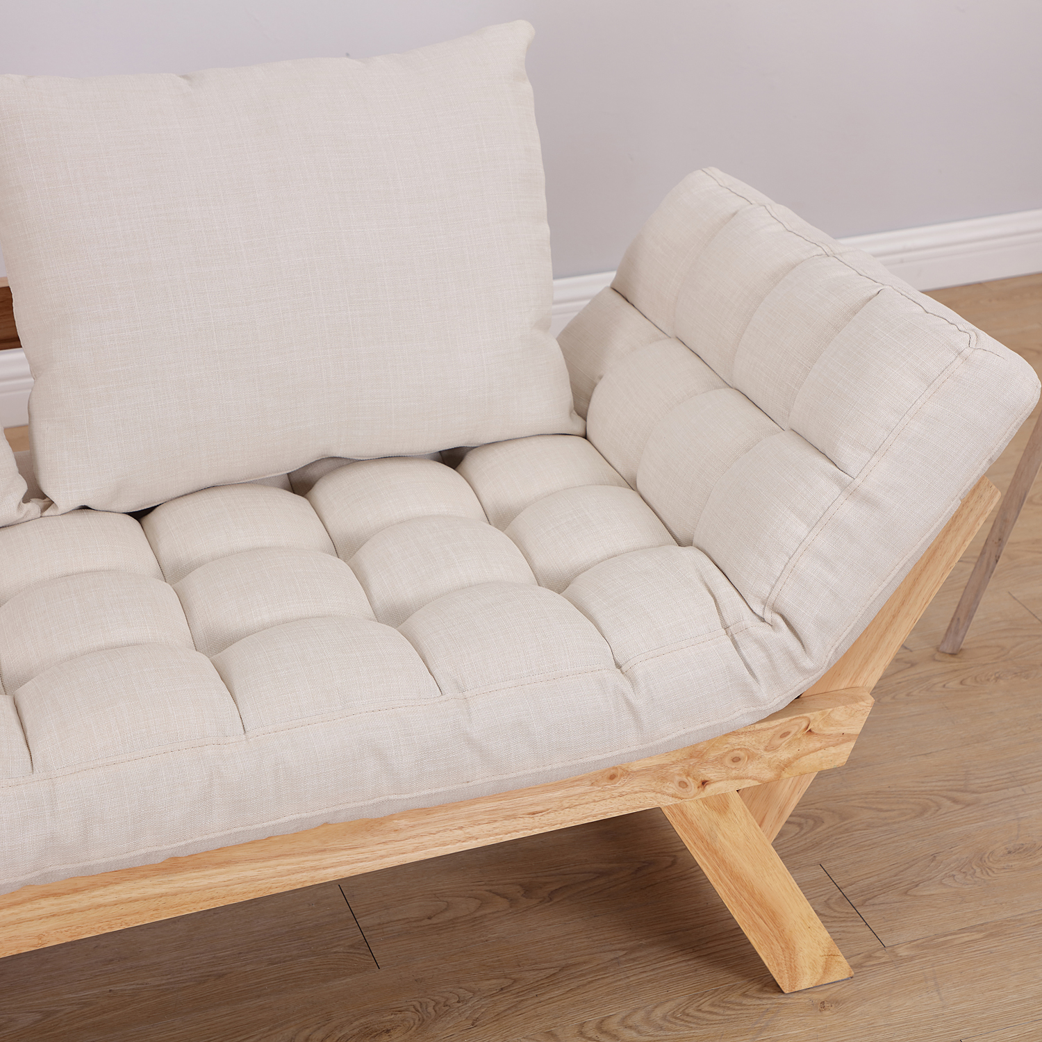Convertible-Sofa-Bed-Sleeper-Couch-Chaise-Lounge-Chair-Adjustable-Padded-Pillow thumbnail 44