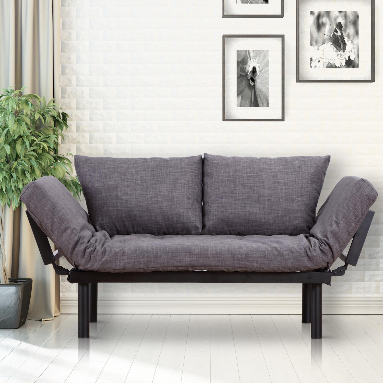 Details About Homcom Modern Style Sofa Bed Futon Couch Sleeper Lounge Sleep Dorm Furniture